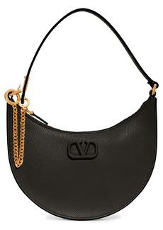 Valentino Garavani Mini VLOGO Leather Hobo Bag