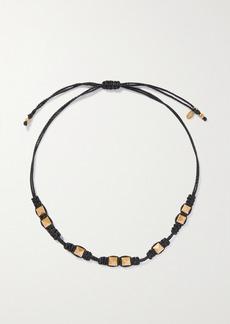 Valentino Garavani Rockstud Gold-tone And Cord Necklace