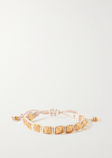 Valentino Garavani Rockstud Gold-tone And Cotton Bracelet