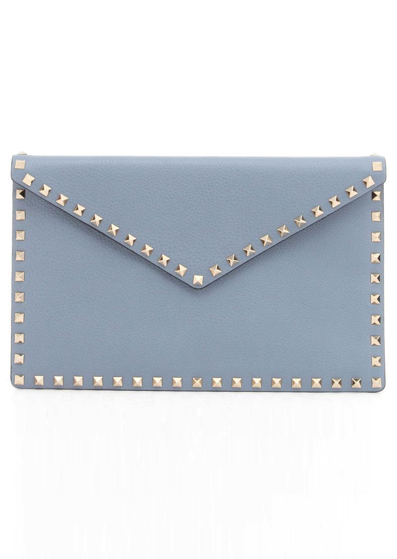 Valentino Garavani Rockstud Leather Envelope Pouch