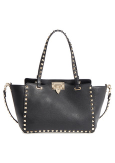 Valentino Garavani Rockstud Leather Tote - Black