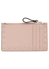 Valentino Garavani Rockstud Leather Zip Card Case