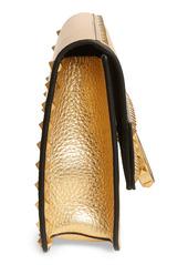 Valentino Garavani Rockstud Metallic Leather Clutch