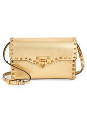 Valentino Garavani Rockstud Metallic Leather Shoulder Bag
