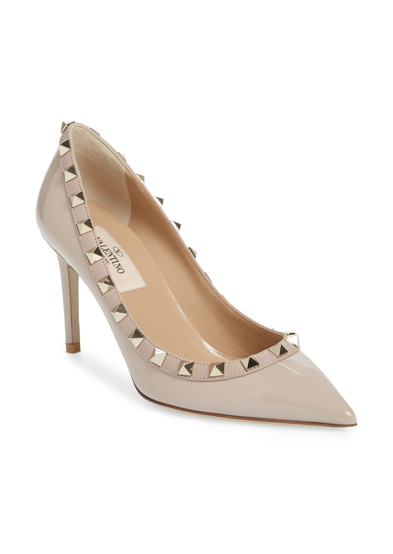 Valentino Garavani Rockstud Pointed Toe Pump (Women)