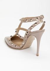 Valentino Garavani Rockstud Pointed Toe T-Strap Pump (Women)