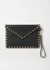 Valentino Garavani Rockstud Textured-leather Pouch
