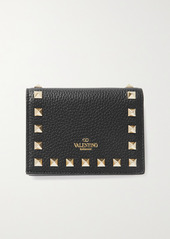 Valentino Garavani Rockstud Textured-leather Wallet