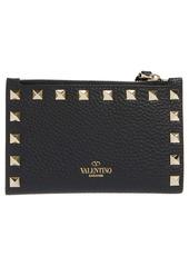 Valentino Garavani Rockstud Zip Coin & Card Pouch