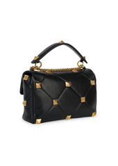 Valentino Garavani Roman Stud Leather Shoulder Bag