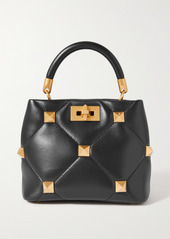 Valentino Garavani Roman Stud Small Quilted Leather Tote