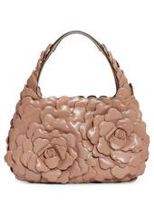 Valentino Garavani Small Atelier Rose Leather Hobo