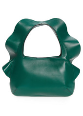 Valentino Garavani Small Atelier Rouches 04 Edition Ruffle Leather Hobo