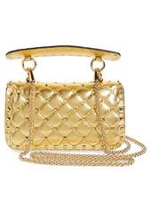 Valentino Garavani Small Rockstud Spike Metallic Leather Shoulder Bag