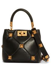 Valentino Garavani Small Roman Stud Matelassé Leather Top Handle Bag
