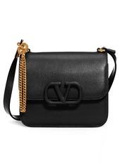 Valentino Garavani Small V-Sling Leather Shoulder Bag
