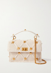 Valentino Garavani Upstud Crochet-knit Shoulder Bag