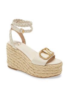 Valentino Garavani VLOGO Espadrille Platform Sandal (Women)