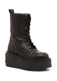 Valentino Garavani VLOGO Platform Lace-Up Boot (Women)