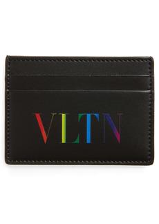Valentino Garavani VLTN Leather Card Case