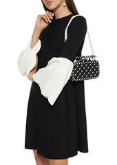 Valentino Garavani Woman Free Rockstud Spike Quilted Leather Shoulder Bag Black