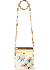 Valentino Garavani Woman Gold-tone Enamel Compact Mirror Gold