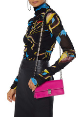 Valentino Garavani Woman Stud Stitching Leather Shoulder Bag Fuchsia