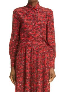 Valentino Le Rouge Print Silk Shirt