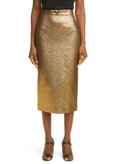 Valentino Metallic Matelassé Skirt