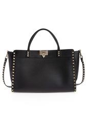 Valentino Rockstud Leather Top Handle Bag