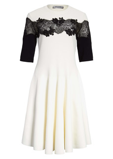 Valentino Sweater Dress with Lace Detail