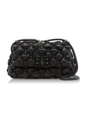 Valentino Valentino Garavani SpikeMe Medium Studded Quilted Leather Shoulder Bag