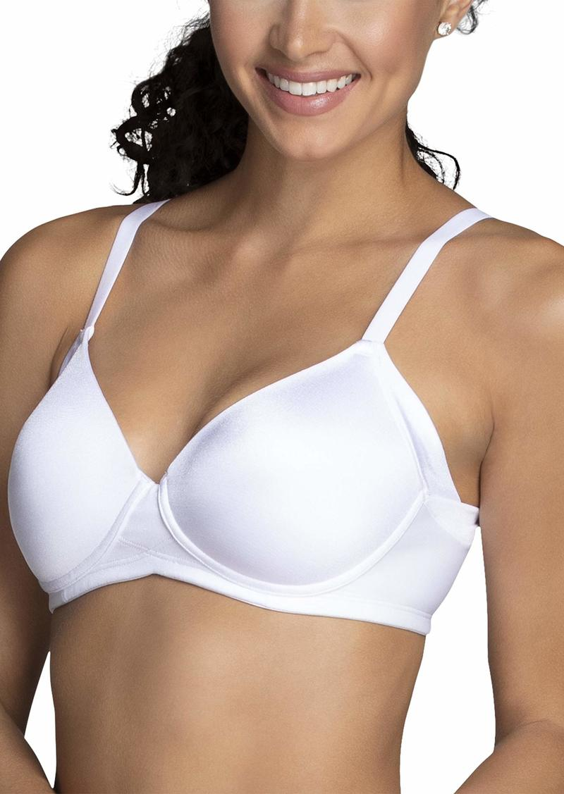 Vanity Fair Women's Beauty Back Wirefree Bra Full Coverage with Side Smoothing - White
