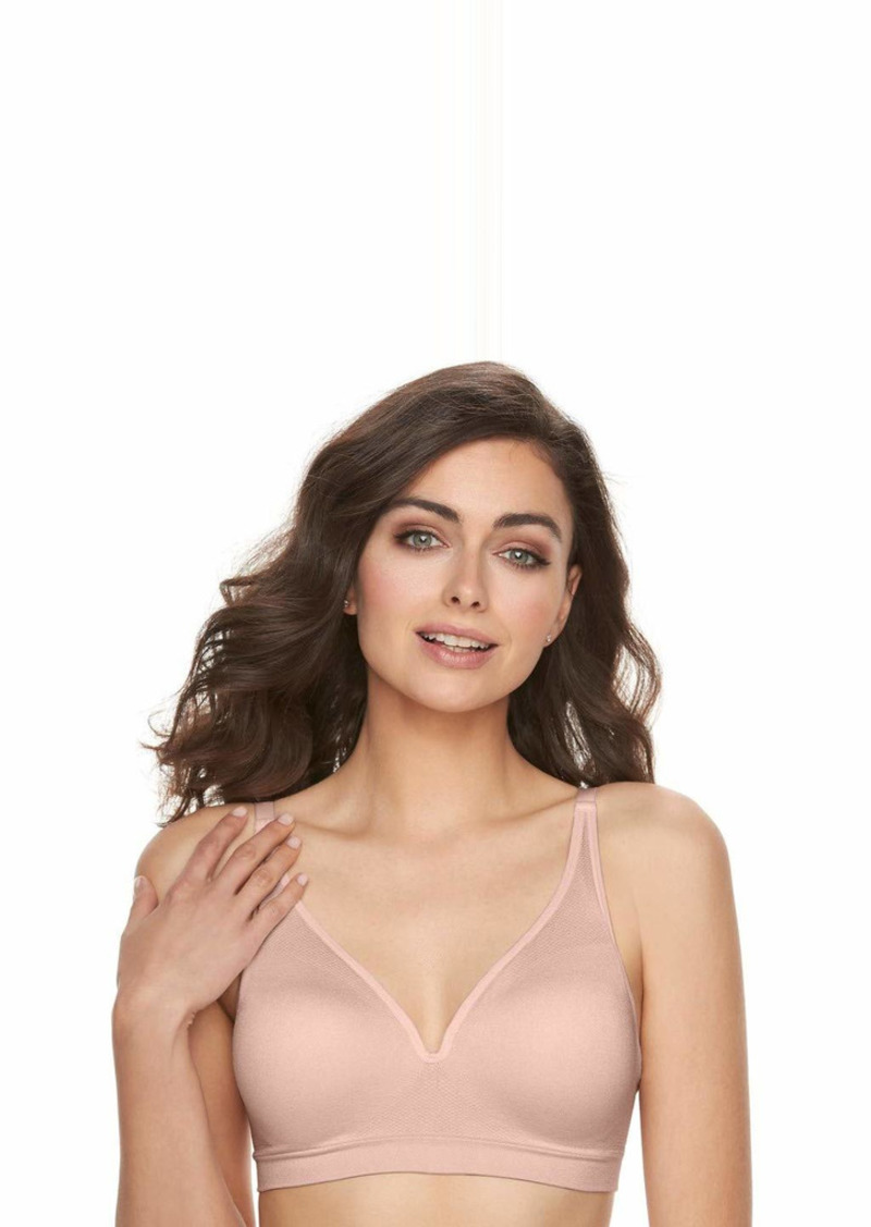 Vanity Fair Women's Breathable Luxe Full Coverage Seamless Wirefree 72219 Bra