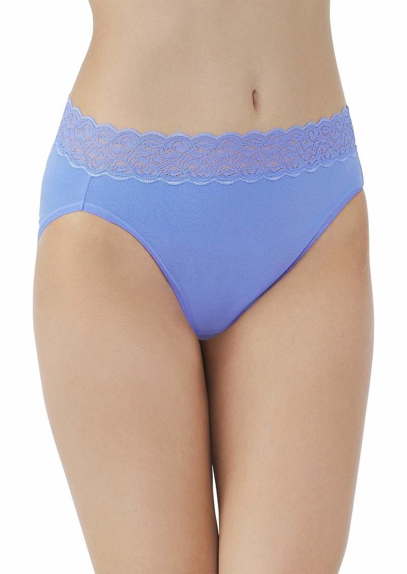 Vanity Fair Women's Flattering Lace Cotton Stretch Hi Cut Panty 13395  /6