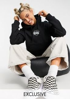 Vans Better Together Airbrush cropped hoodie in black Exclusive at ASOS