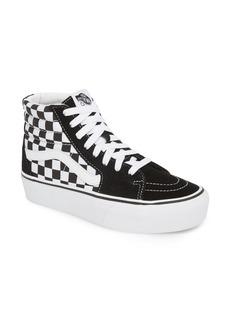 Vans UA Sk8-Hi Platform Checkerboard Sneaker (Women)