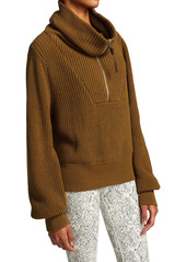 Varley Mentone Quarter-Zip Knit Top