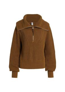 Varley Mentone Quarter-Zip Knit Top