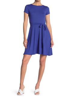 Velvet by Graham & Spencer Short Sleeve Skater Dress