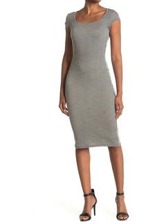 Velvet by Graham & Spencer Square Neck Ribbed Dress