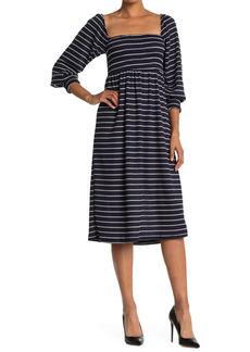 Velvet by Graham & Spencer Stripe Smocked Dress