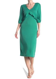 Velvet by Graham & Spencer V-Neck Ruffle Front Dress