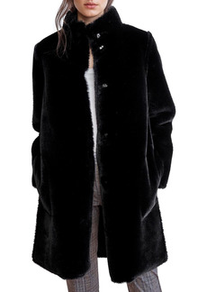 Velvet by Graham & Spencer Mina Reversible Faux Shearling Coat