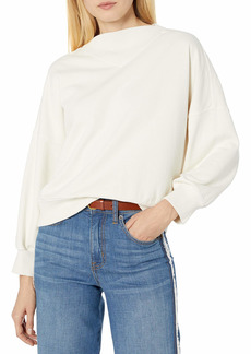 Velvet by Graham & Spencer Women's Betty Mock Neck Sweatshirt  M