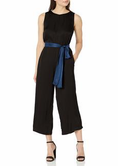 Velvet by Graham & Spencer Women's Ivy Satin Viscose Jumpsuit  M