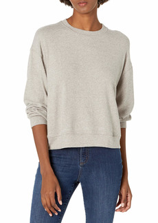 VELVET BY GRAHAM & SPENCER Women's Mira Cozy Lux Sweatshirt GREY M