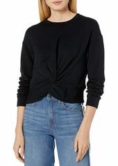 Velvet by Graham & Spencer Women's Sammy Fleece Twist Front Sweatshirt  S