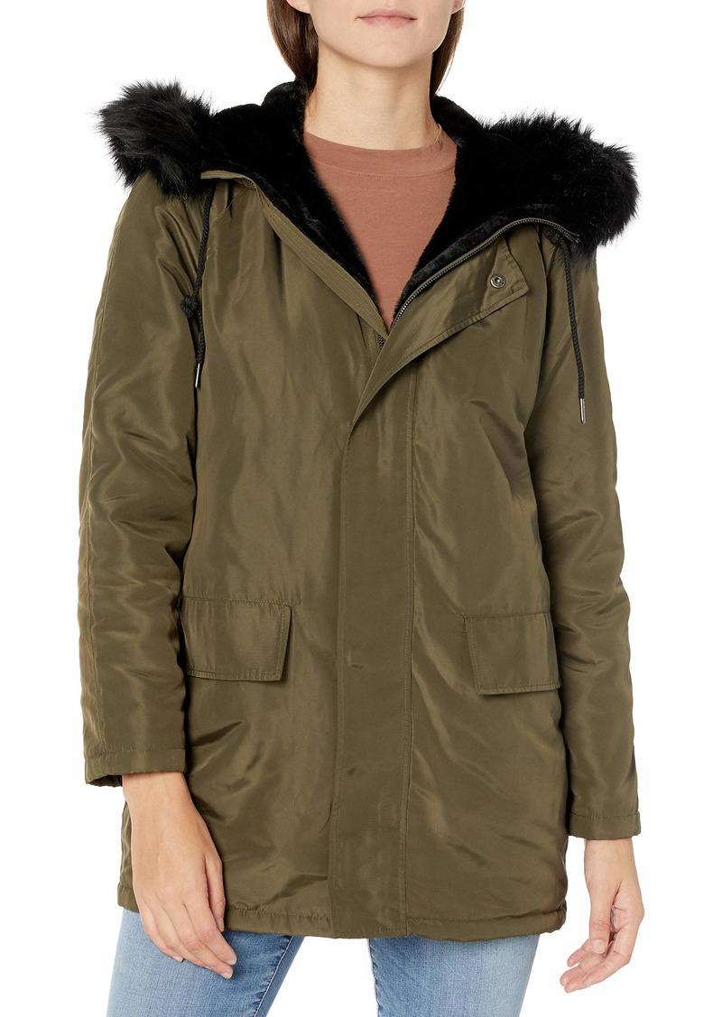Velvet by Graham & Spencer Women's Tiffany Faux Fur Lined Parka  XL