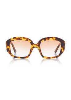 Velvet by Graham & Spencer Velvet Canyon - Women's Motel Musa Square Acetate Sunglasses - Brown/black - Moda Operandi